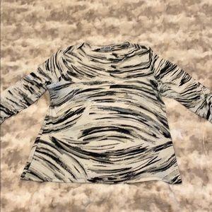 Multi print blouse, 3/4 sleeves
